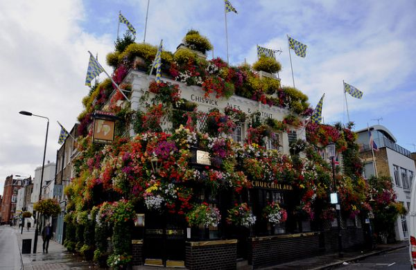 List of the five best quirky bars in London. Sick of traditional pubs? Check out these quirky London pubs including The Churchill Arms and The Fox and Hounds.