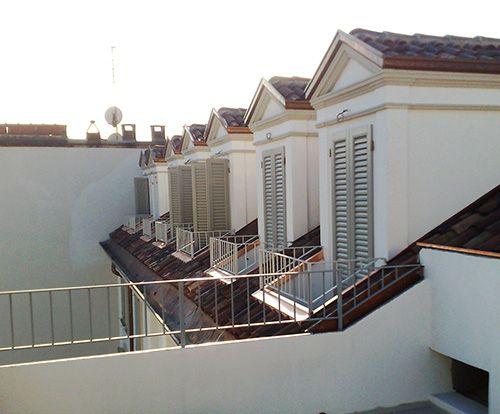 Abbaini della facciata interna dopo il restauro
