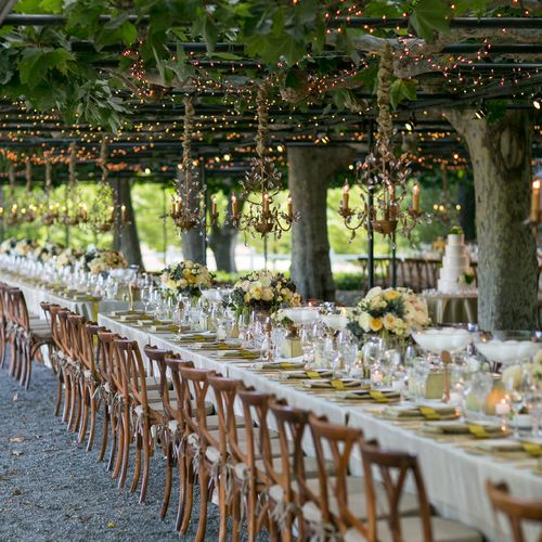 Coeur D Alene Outdoor Wedding Venues: Tables & Parties
