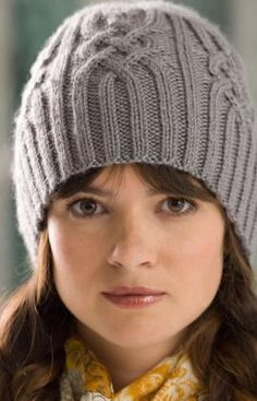 Snowtracks Winter Cap for Women - free Red Heart knitting pattern
