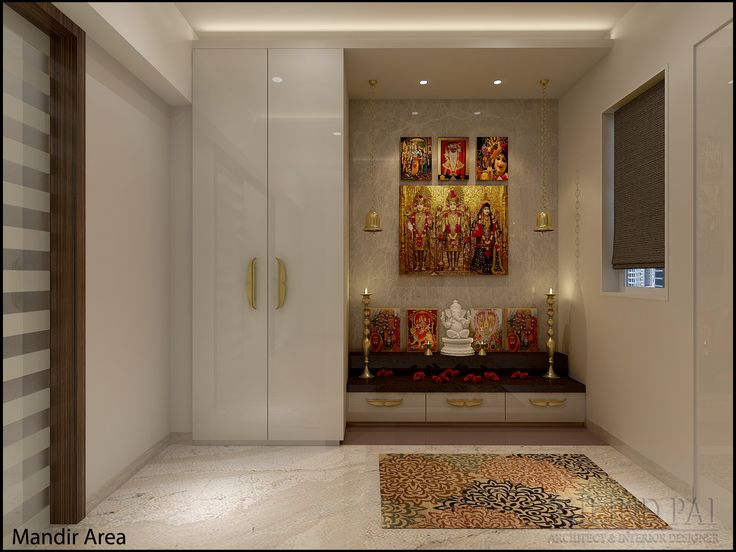 Pooja Room  As A Holy Space For Deities, Demands A Backdrop Of Its Own  Stature And Hence Armani Beige Marble Has Been Used For The Backdrop, ... Part 91