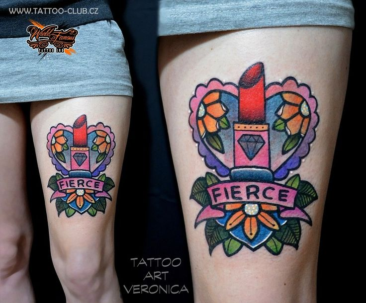tetovanihradec.jalbum.net Old school new school Tattoo fierce lips heart flower hradec kralove