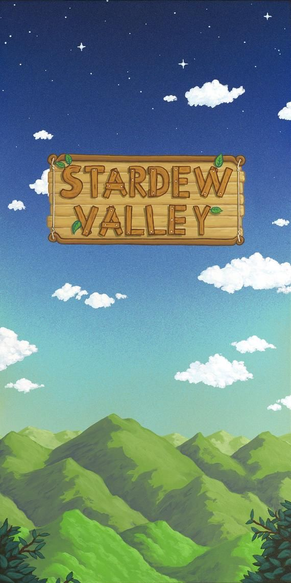 Stardew Valley Title Screen Limited Edition Print Etsy In 2021 Stardew Valley Stardew Valley Tips Valley
