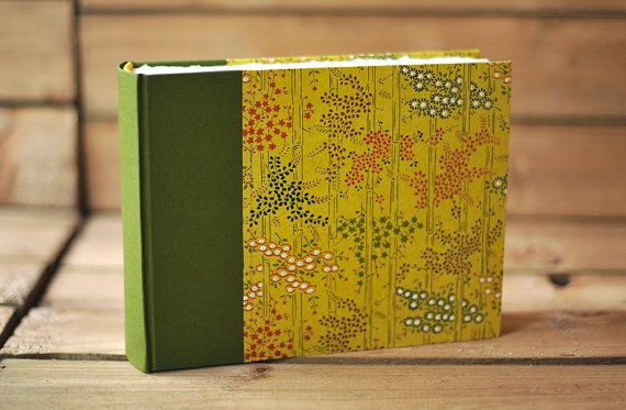Handmade Photo Album Small Photo Album Olive by TheIdleBindery