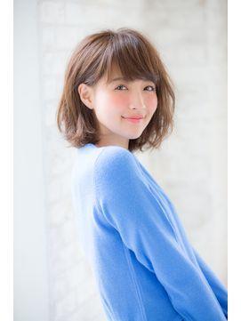 【joemi 】ミルクティーカラー×無造作ウェーブ☆ボブスタイル - 24時間いつでもWEB予約OK!ヘアスタイル10万点以上掲載!お気に入りの髪型、人気のヘアスタイルを探すならKirei Style[キレイスタイル]で。