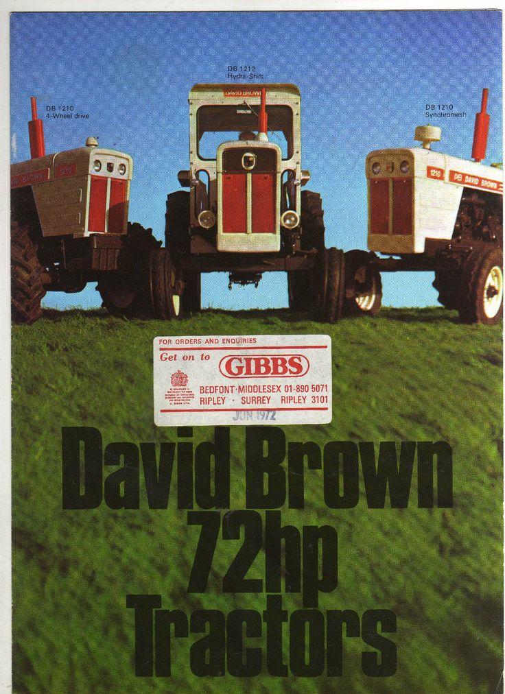 DAVID BROWN 1200 SERIES TRACTOR SALES BROCHURE 70s CLASSIC MODELS - sales brochure
