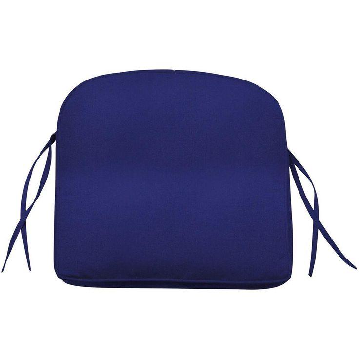 home decorators collection sunbrella blue contoured outdoor seat cushion - Home Decorators Outdoor Cushions