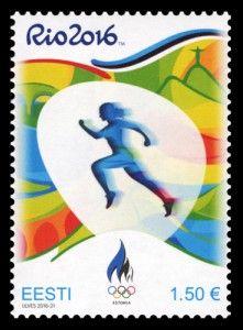 Rio 2016 Olympic stamp Estonia