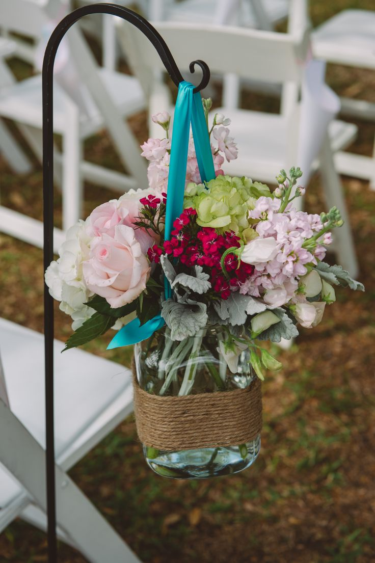 Wedding Flowers Hanging Mason Jars Wedding Ideas Pinterest