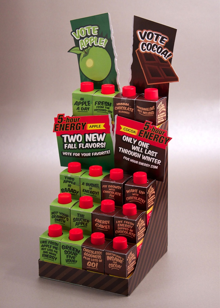 Five Hour Energy POP display for Package Design.