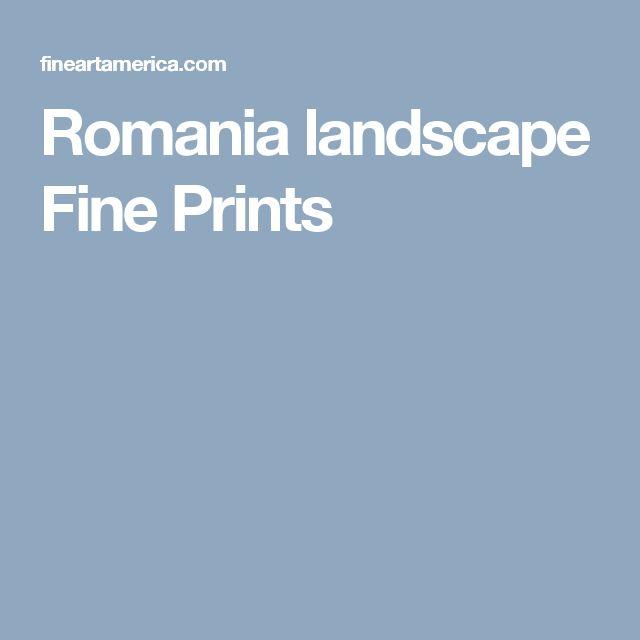 Romania landscape Fine Prints