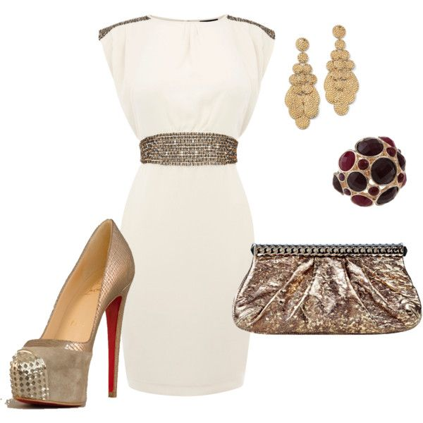 beauty in white, created by #jessica-mcbride on #polyvore.