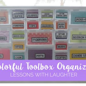 Colorful Toolbox Organizer