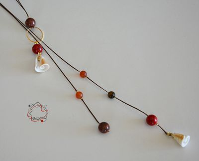 Coral, Shell & Jade Necklace
