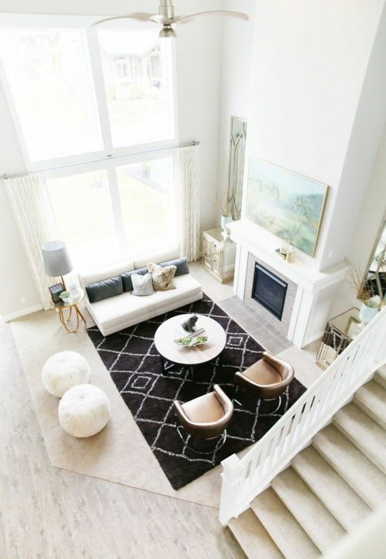 From alicelanehome com · love double story living areas those windows are amazing