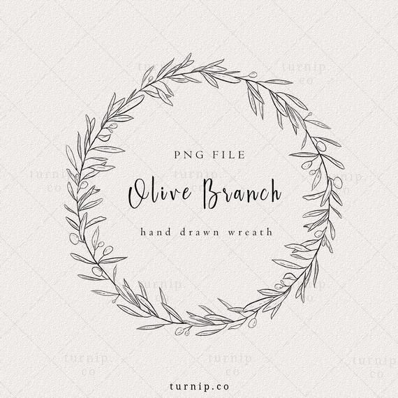 Olive Branch Wreath Clipart Olive Wreath Logo Black And Etsy Olive Branch Wreath Olive Wreath Olive Branch