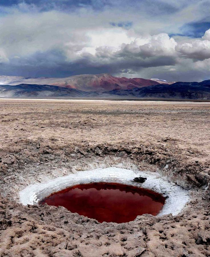 Ojo del #Salar de #Atacama. http://reversehomesickness.com/south-america/atacama-driest-desert-on-earth/
