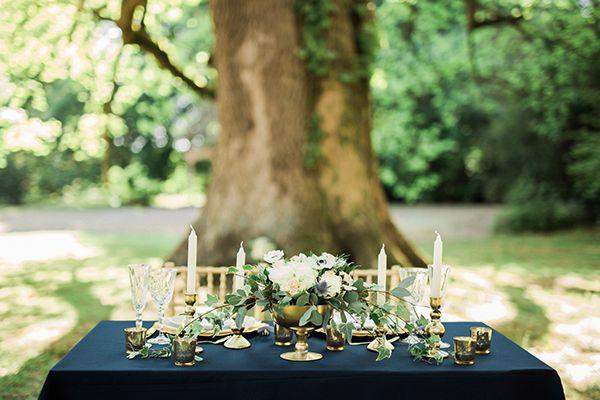 Blue & gold wedding inspiration shoot - Love4Wed