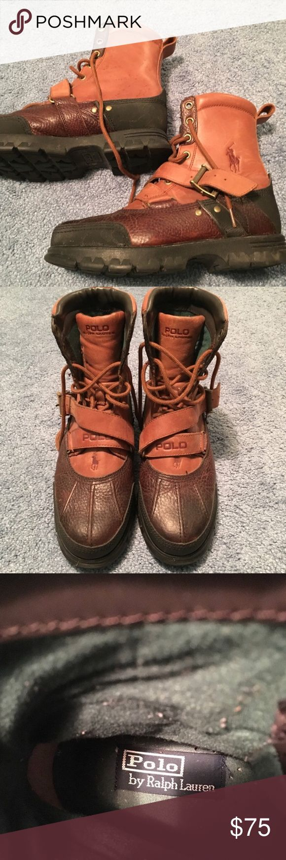 Polo Ralph Lauren winter boots Winter boots worn a couple times! Polo by Ralph Lauren. Slightly big on me would work better for a 9.5 women's size 7 men's Polo by Ralph Lauren Shoes Boots