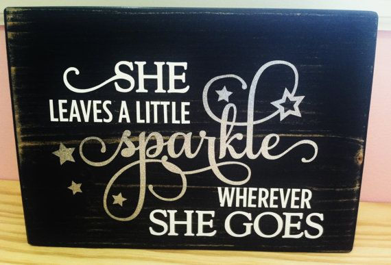 Nursery Little Girl Decor distressed Wood by TurquoiseWoodWorks, $18.00