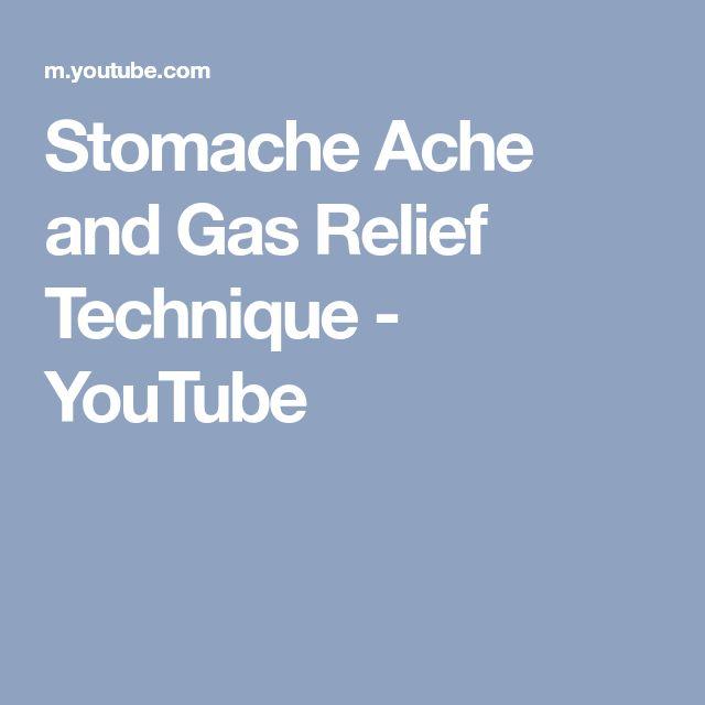 Stomache Ache and Gas Relief Technique - YouTube