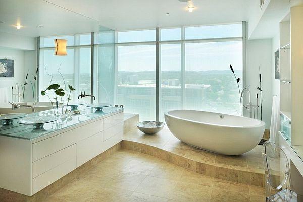 Heißes Bad - freistehende Badewannen bieten Entspannung