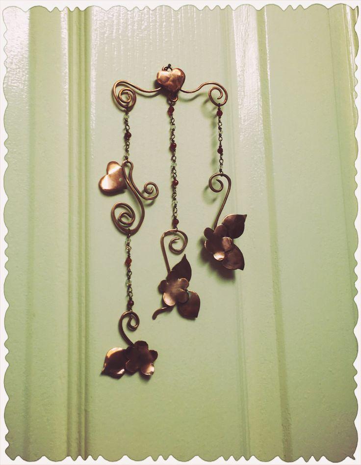 Copper art wall hanger