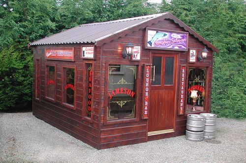 Backyard pub by bwarbiany playhouse for adults for for Garden shed bar