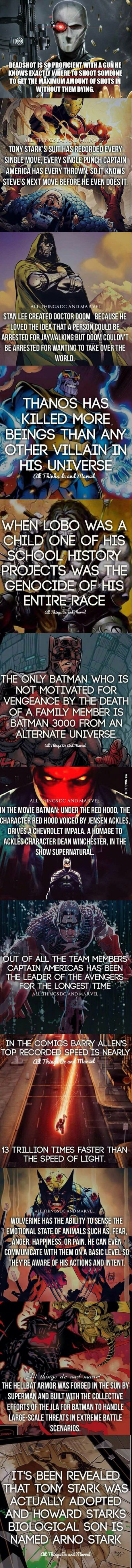 Marvel and Dc facts