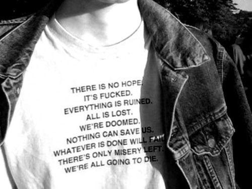 We are pessimists.