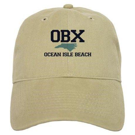 Ocean Isle Beach NC - Map Design Baseball Cap on CafePress.com