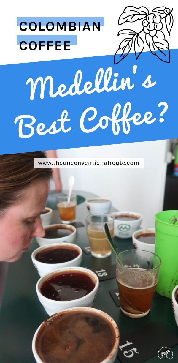 We find out what Colombian coffee here in Medellin is best. Read our blog post to find out! www.theunconventionalroute.com #colombiancoffee #coffeeaddicts #medellincoffee #bestcoffeeinmedellin #bestcoffeeincolombia #cafecolombiano #medellintravel #travelbloggers #tastetest