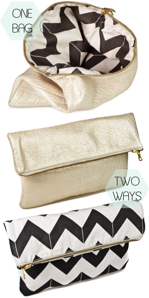 One Bag... Two Ways! Reversible and chevron, love but way expensive! Colleen, can you make this for me?