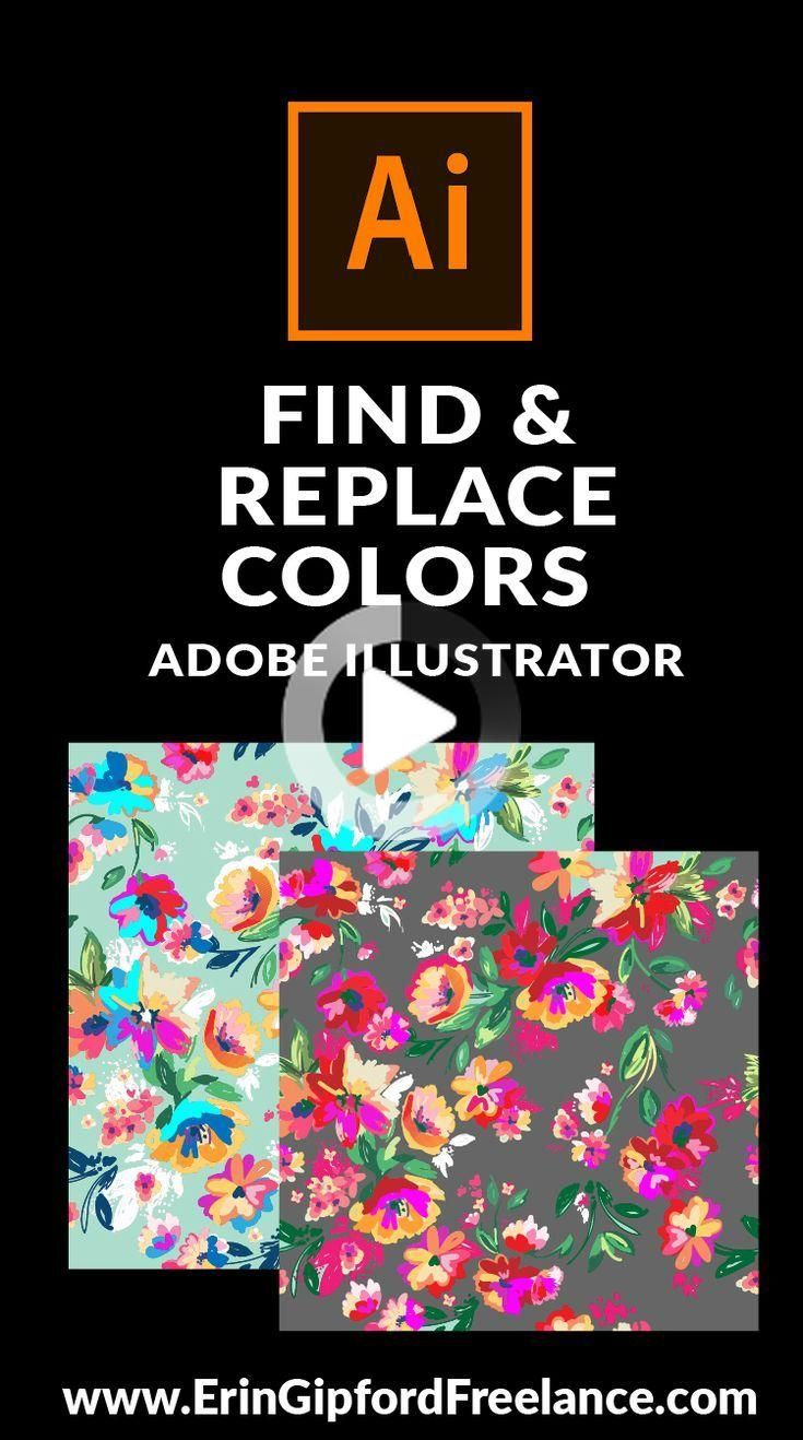 How To Find All Objects With The Same Color And Change Them In Adobe Illustrator Learning Adobe Illustrator Adobe Illustrator Free Free Illustrator Tutorials