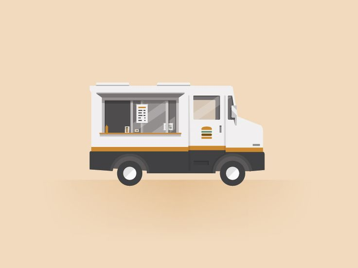 Food truck food truck illustrations and icons for Food truck design software