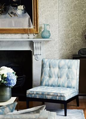 Love, love, love the Zoffany fabric on this chair