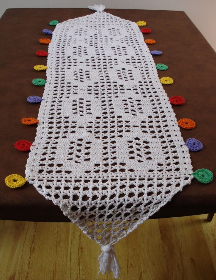 Patrones caminos de mesa tejidos a crochet gratis compra - Camino de mesa elegante en crochet ...