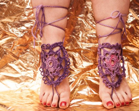 Crochet barefoot sandals barefoot sandles nude shoes foot от GGUA