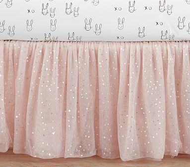 The Emily & Meritt Sparkle Tulle Crib Skirt #pbkids