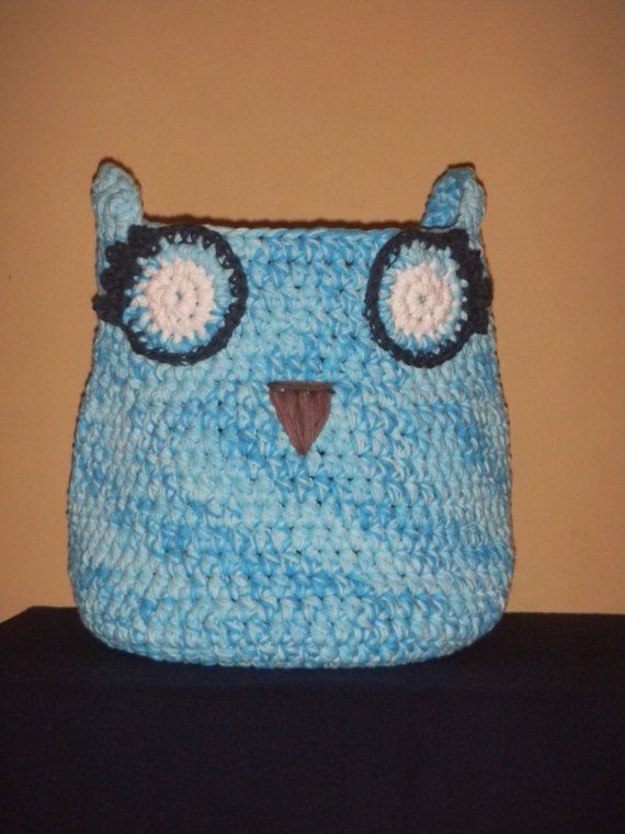 Owl Basket by KnotsSewFast on Etsy, $50.00