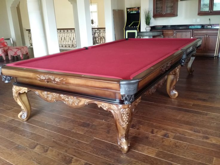 We Recently Installed This Olhausen Billiards 12 Foot Louis XIV Snooker  Table In Solid Maple With A Heritage Maple Finish Into The Home Of One ...