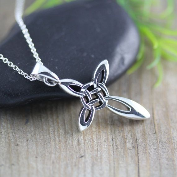 Silver Celtic Cross Necklace Irish Celtic Cross by LifeOfSilver, $37.80 janell