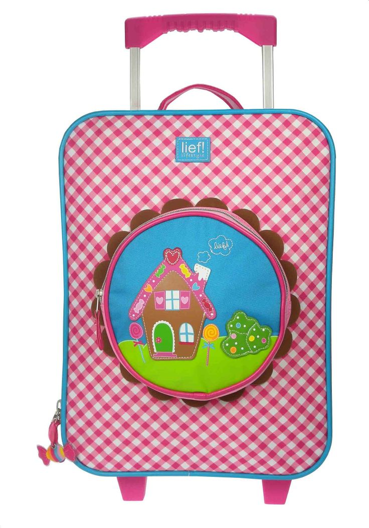 Roze geruite trolley voor meisjes, van lief! lifestyle | Pink checked trolley for girls, by lief! lifestyle