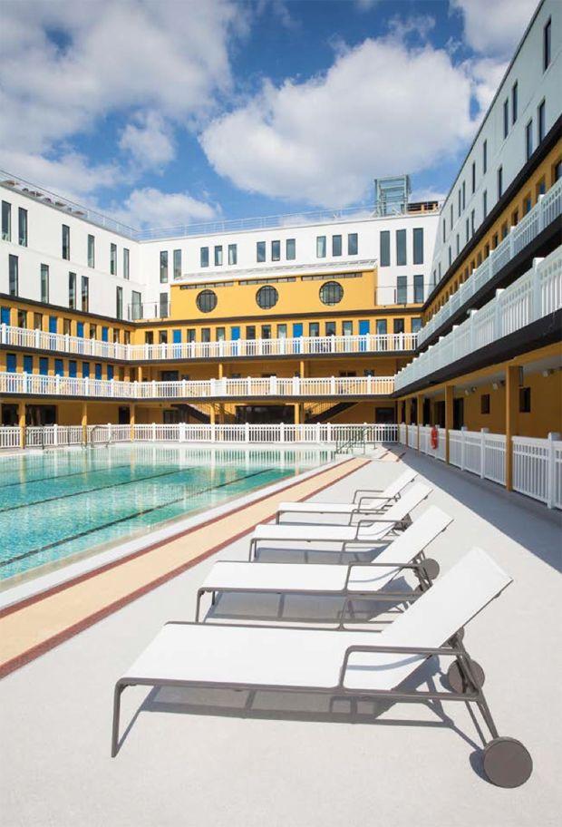 Summer. Hotel Molitor Pool.  Hotel Molitor Paris, France.
