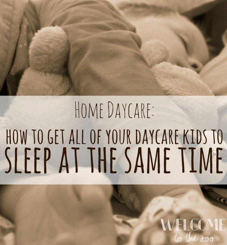 As a daycare provider, you *might* be lucky enough to have space in your home for all of the kids to take a nap in a separate area. But if you're like most, you just don't. Chances ar…