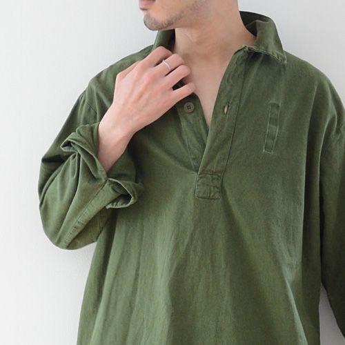 福島市の古着屋 Clothing and more FUNS BLOG: ヴィンテージ スウェーデン軍 80年代 ミリタリー プルオーバー シャツ M55