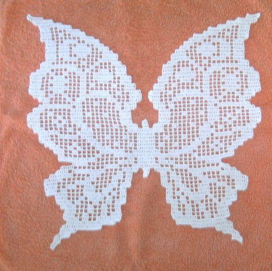 Mariposa tapete encaje de gancho algodón por Martinecreation