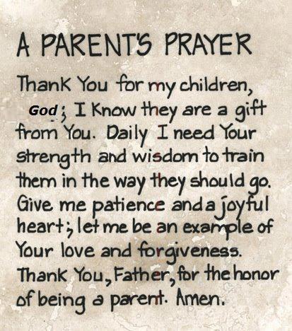 A Parents' Prayer: Parents Prayer, Amenities, Thanks You Lord, Be A Parents, Baby, Prayer Quotes, Inspiration Quotes, Bible Ver, Kid