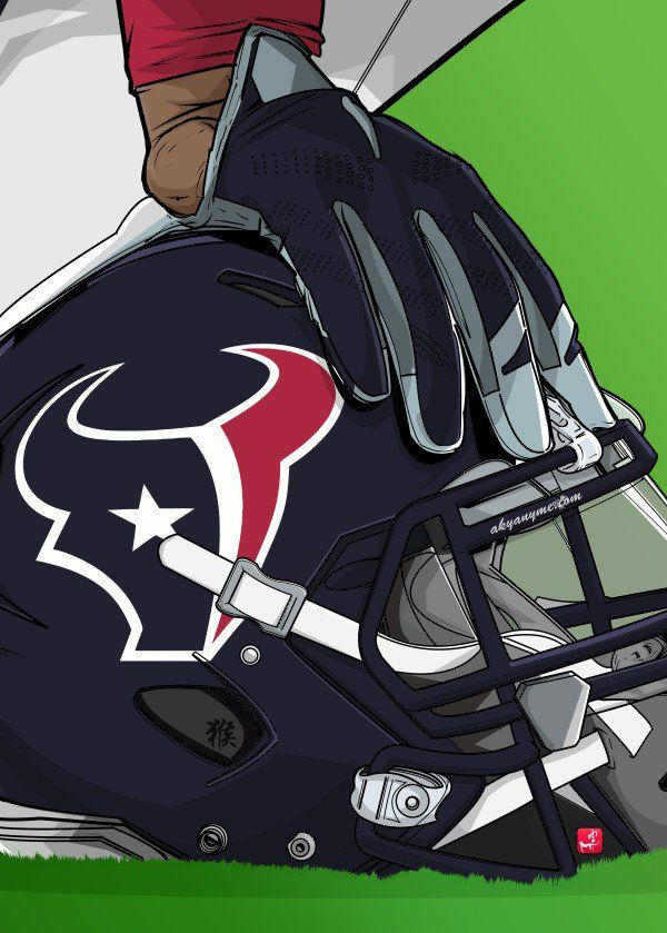 "NFL Team Helmets Houston Texans #Displate artwork by artist ""Akyanyme Dotcom"". Part of a 32-piece set featuring helmet designs based on team emblems from the NFL National Football League. £38 / $51 per poster (Regular size), £76 / $102 per poster (Large size) #NFL #NationalFootballLeague #AmericanFootball #SuperBowl #HoustonTexans #Texans"