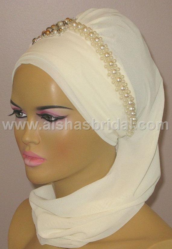 Ready To Wear Hijab  Code HT0122 by aishasbridal on Etsy, $31.82